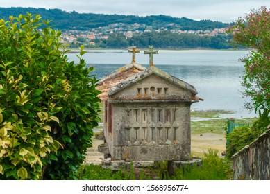Historical sign in Combarro, Galicia, Spain