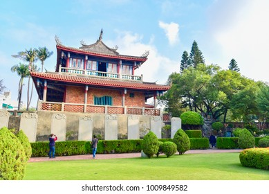 Historical Site of Chihkan Tower or Fort Provintia in Tainan, Taiwan