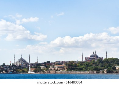 historical skyline of Istanbul, Turkey