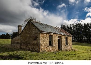 Historical stone cottage in Tasmania, Australia