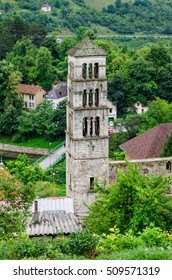 Historical stone tower in the old town Jajce - Bosnia and Herzegovina