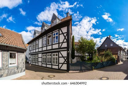 Historical street in Goslar in a beautiful summer day, Germany