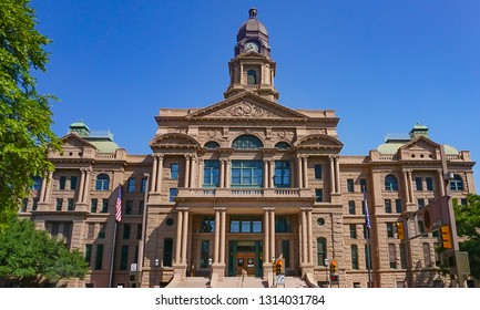 Historical Tarrant County Courthouse of 1895 in Fort Worth Texas