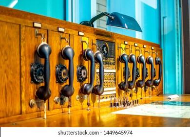 Historical telephone communication machine, Germany
