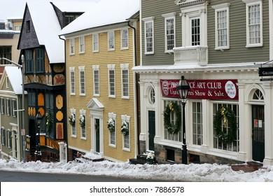 historical Thomas Street, Providence, Rhode Island