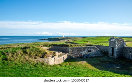 Historical Torry Battery at Nigg bay of North sea, Aberdeen, Scotland