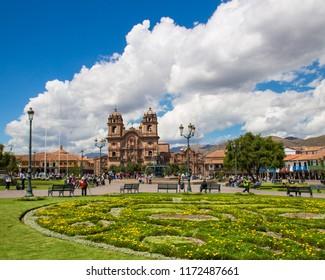 Historical town center in Cusco, Peru