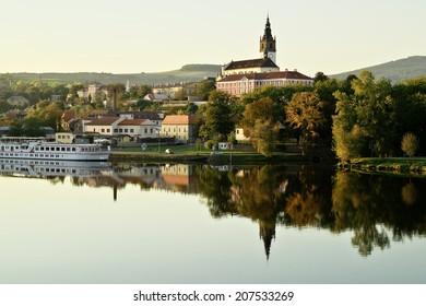 Historical town Melnik over river Elbe, Czech Republic