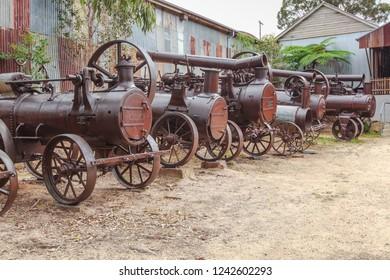 Historical Traction Steam Engines at Herberton, Queensland, Australia