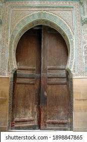 Historical and traditional door of Morocco
