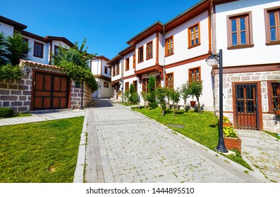 Historical Turkish restoration houses in Hamamonu district of Altindag, Ankara, Turkey.