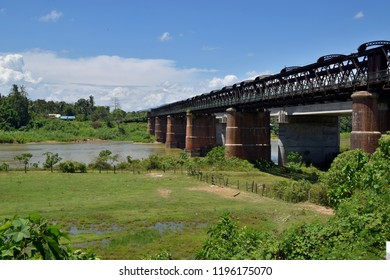 The historical Victoria Bridge span across the Perak River (Sungai Perak) in the town of Enggor.