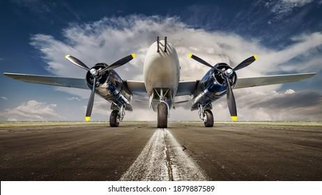 historical warbird against a dramatic sky
