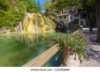 Historical water mill, Molinetto della Croda, Refrontolo, Veneto, Italy