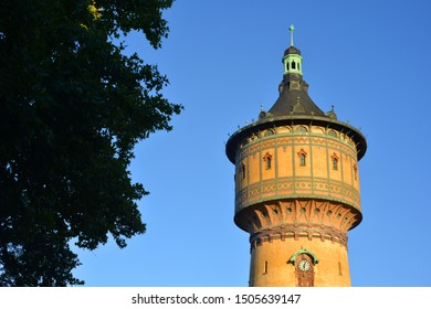 historical water tower building in Halle, Saale, Germany