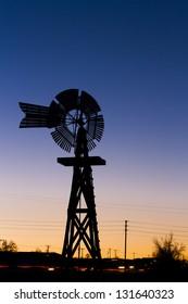 Historical windmill at the 17mile House Farm Park, Colorado.