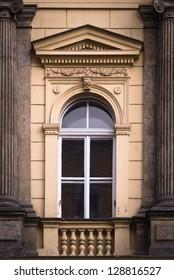 Historical Window with Pillars, Prague, The Czech Republic