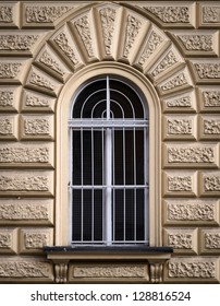 Historical Window Protected with Iron Lattice, Prague, The Czech Republic
