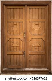 Historical Wooden Door, Prague, The Czech Republic, Europe