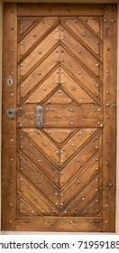 Historical Wooden Plank Door, Prague, The Czech Republic, Europe