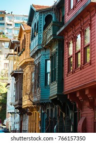 Historical wooden residential buildings, classic Ottoman wooden architecture in Kuzguncuk,Istanbul