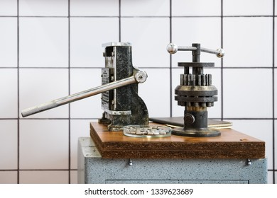 History of dental tools - old machine for dentures