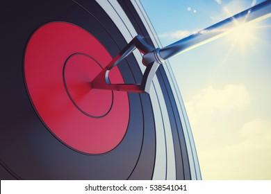 Hit the bullseye. 3D Rendering