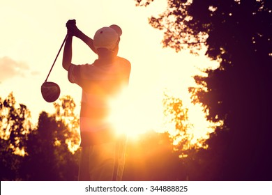 Hit golf in strong sunlight.