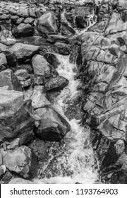 hitam putih abstrak