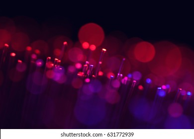 hi-tech concept abstract background, defocused illumination from fiber optic glass, vintage retro soft colors