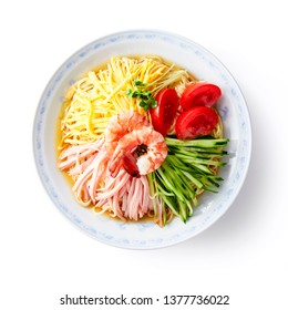 Hiyashi-Chuka (Chilled Chinese noodle with ham and vegetables)