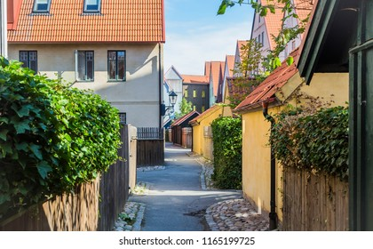 HJARUP, SWEDEN - AUGUST 22, 2018:This style is inspired by pre-industrial town architecture found in the coastal region of the southern Baltic and the North Sea between Flanders and Tallinn.