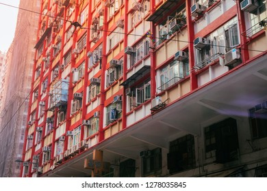 HKSAR, Hong Kong, Hong Kong Island - November 08, 2018 : Apartments in the afternooon sunshine atNorth Point.