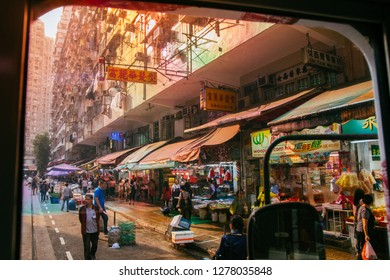 HKSAR, Hong Kong, Hong Kong Island - November 08, 2018 : Chun Yeung Street, North Point