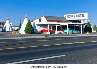 Hlbrook, U.S.A. - May 24 2011:  Arizona, the Wingwam Hotel on the Route 66