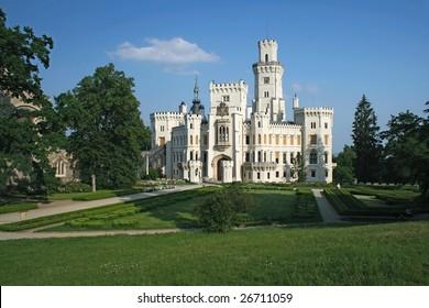 Hluboka nad Vltavou castle near Ceske Budejovice, Czech Republic