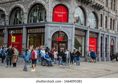 H&M Store At Amsterdam Centrum The Netherlands 2019