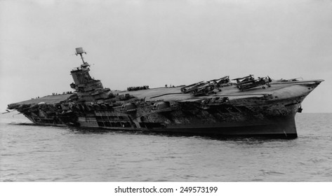 H.M.S. Ark Royal was hit by torpedoes from German submarine, U-81. She was ferrying supplies to Malta in the Mediterranean when attacked on November 13, 1941.