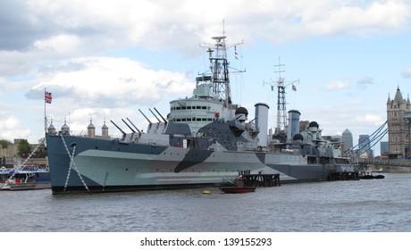 HMS Belfast London uk