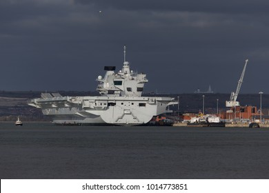 HMS Queen Elizabeth at docked at Portsmouth