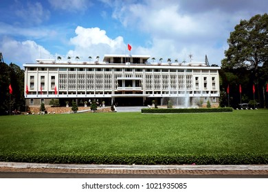 ho chi min independence palace during sunny day