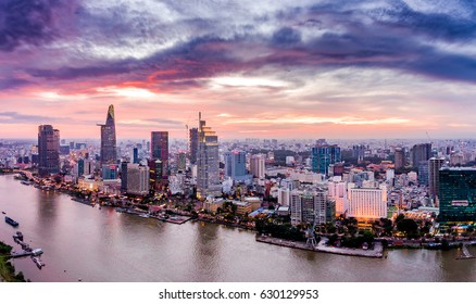 Ho Chi Minh City, aerial view