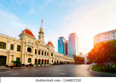 Ho chi minh city hall at daytime in Vietnam.