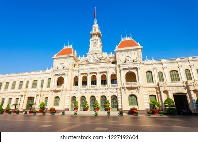 Ho Chi Minh City Hall or Saigon City Hall or Committee Head office is a building in a French colonial style in Ho Chi Minh, Vietnam