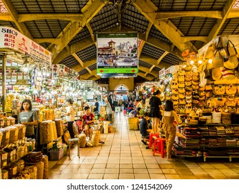 Ho Chi Minh City, Ho Chi Minh/Vietnam - November 27th, 2018: Ben Thanh market early in the morning.