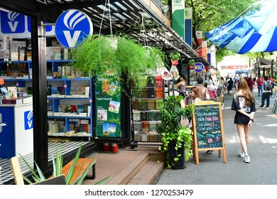 Ho Chi Minh City, Saigon, Socialist Republic of Vietnam - august 16 2018 : the book shop street near the post office