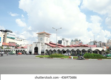 HO CHI MINH CITY, VIET NAM - JUNE 15, 2016: Ben Thanh Market (cho Ben Thanh), an icon of Sai Gon, Viet Nam. It located in central of Sai Gon.