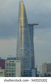 HO CHI MINH CITY, VIET NAM - JAN 15, 2016: Bitexco Tower, a highest tower in Sai Gon