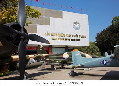 Ho Chi Minh City, Vietnam 04/12/2017 The War Remnants Museum in Ho Chi Minh City in Vietnam Asia