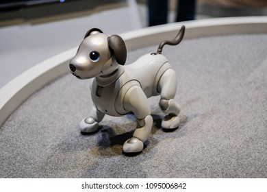 Ho Chi Minh city / Vietnam - Apr 24th 2018:  dog robot Sony Aibo